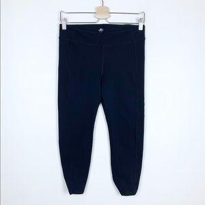 Alo Yoga Crop Knot Back Active Leggings in Black